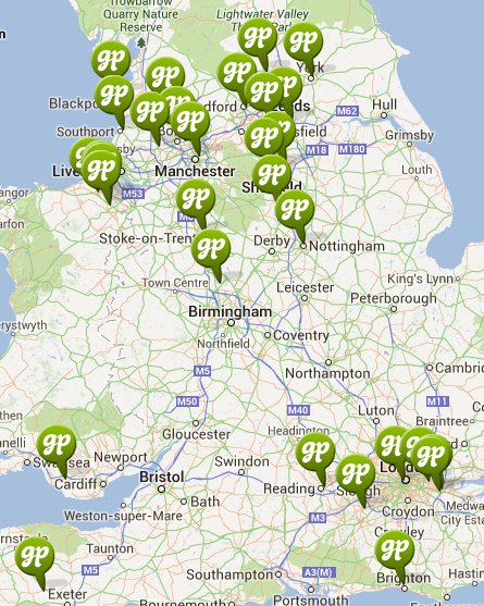 Green Pastures partners map