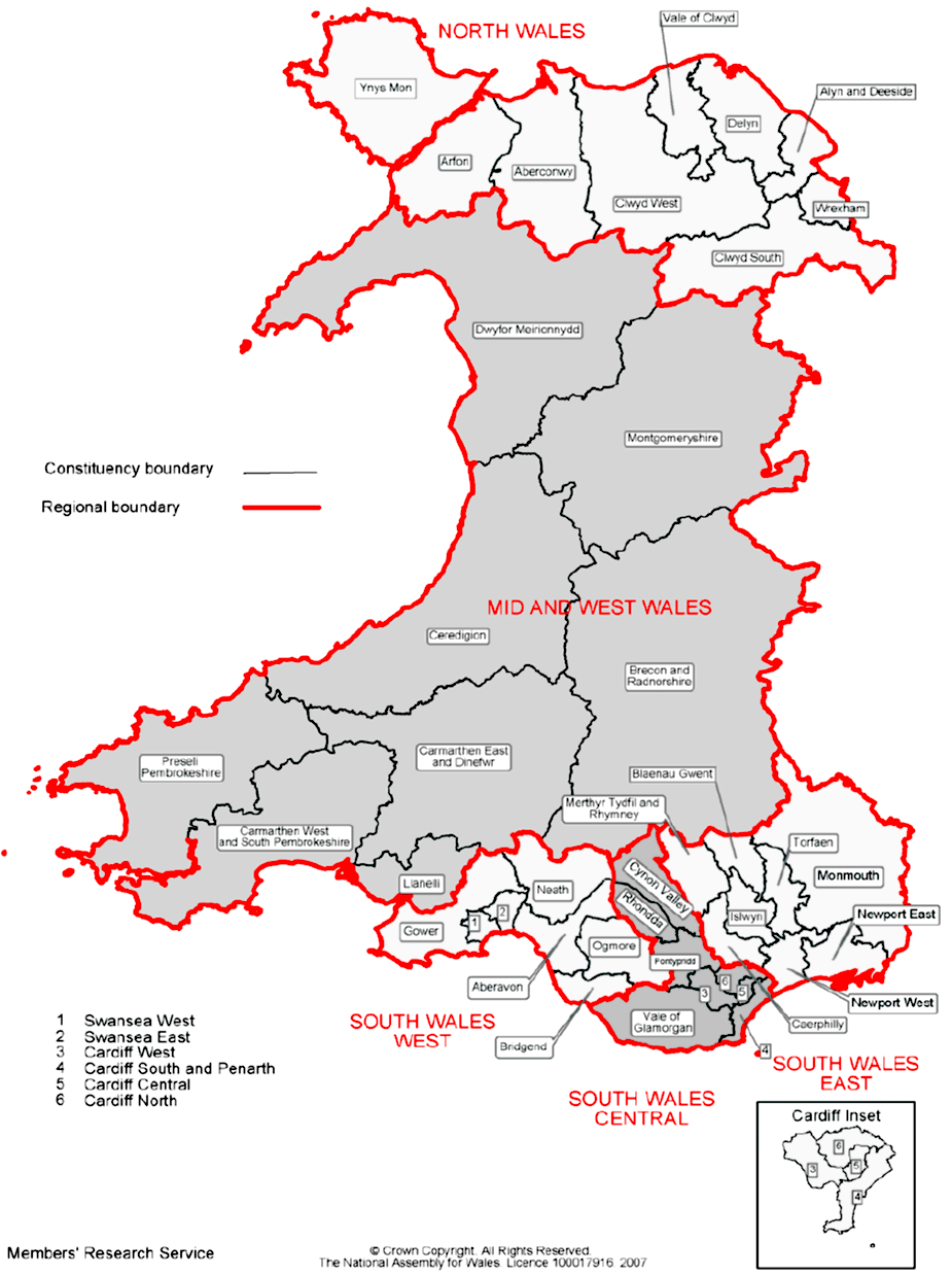 Assembly elections map