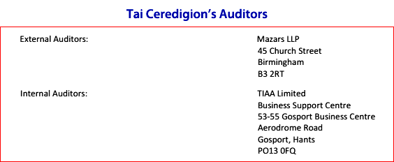 Tai Ceredigion auditors