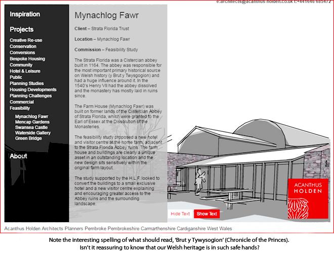 Mynachlog Fawr architects
