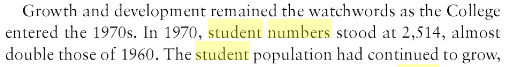 Bangor student numbers
