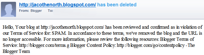 Google blocking