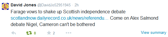 Farage Salmond Tweet